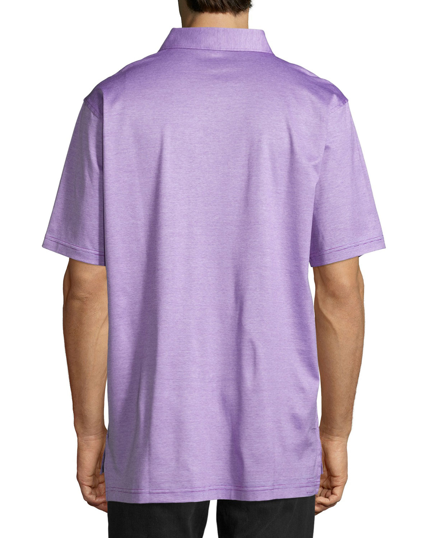Lyst peter millar rodeo stripe cotton polo shirt in for Peter millar polo shirts