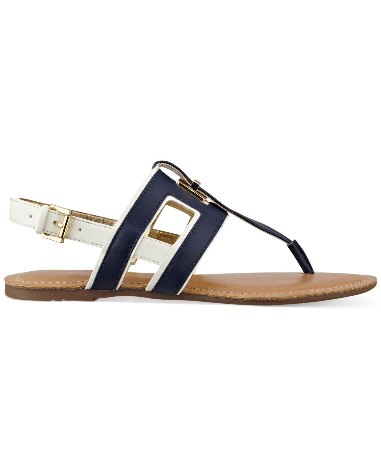 8408c9a62ce76d Lyst - Tommy Hilfiger Women S Lynnie Flat Thong Sandals in Blue