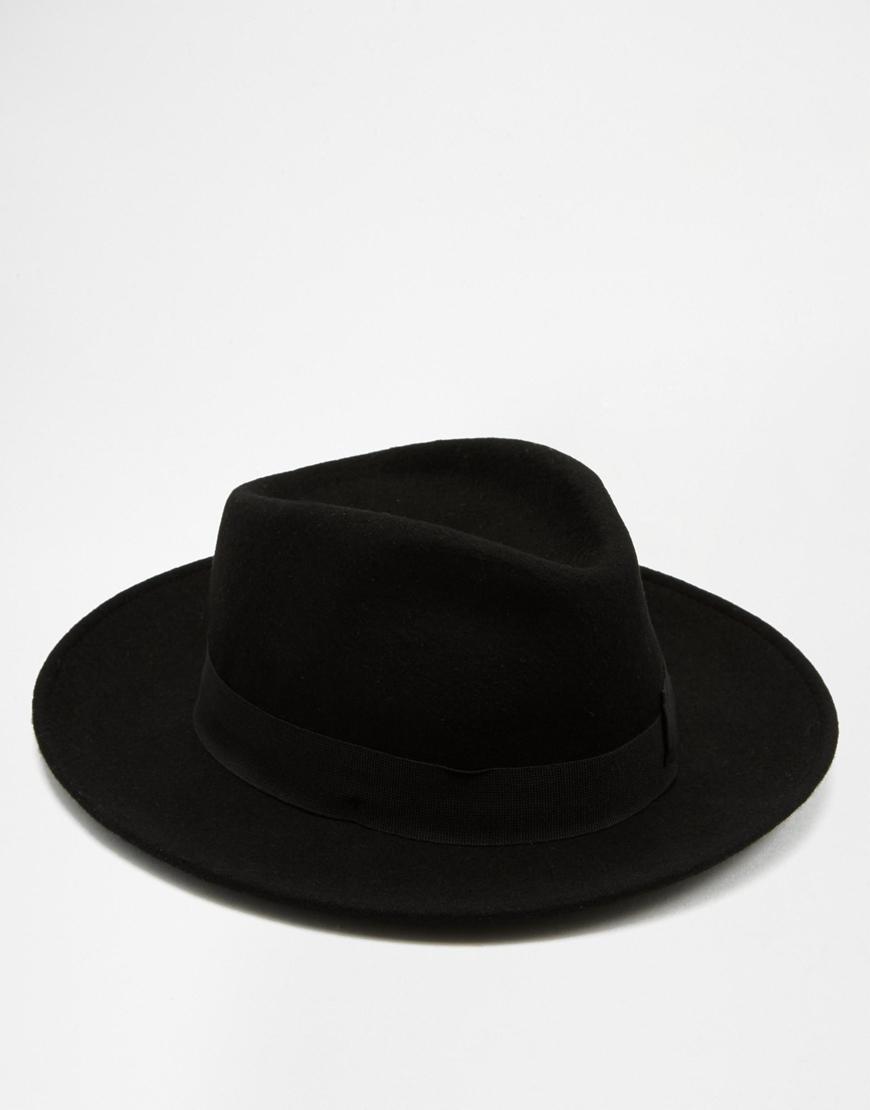 Lyst - Catarzi Pork Pie Wide Brim Hat in Black for Men 485960e5653