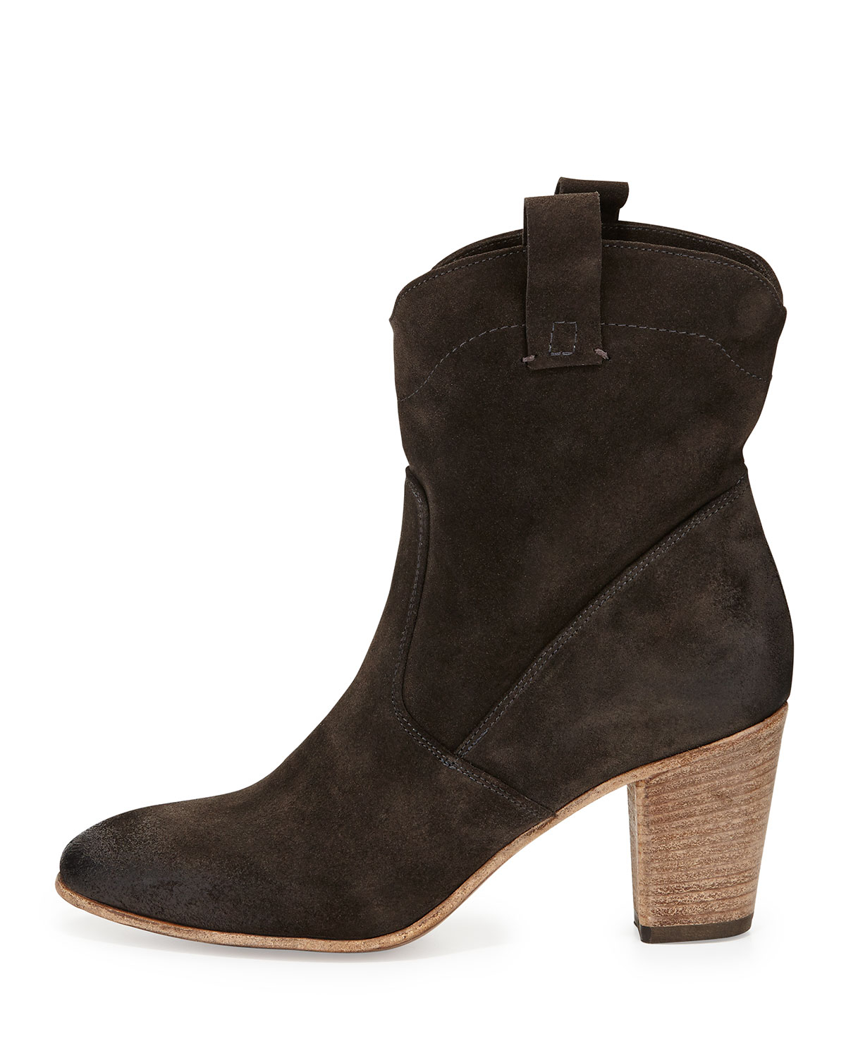 alberto fermani chiara slouchy suede ankle boot in gray lyst