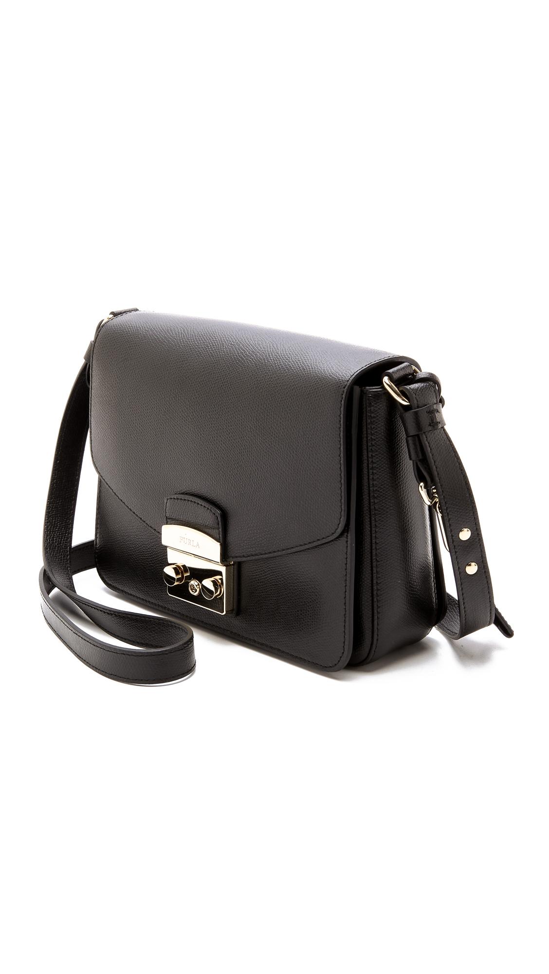 Lyst - Furla Metropolis Shoulder Bag - Onyx in Black c9ffe7d15d0ed