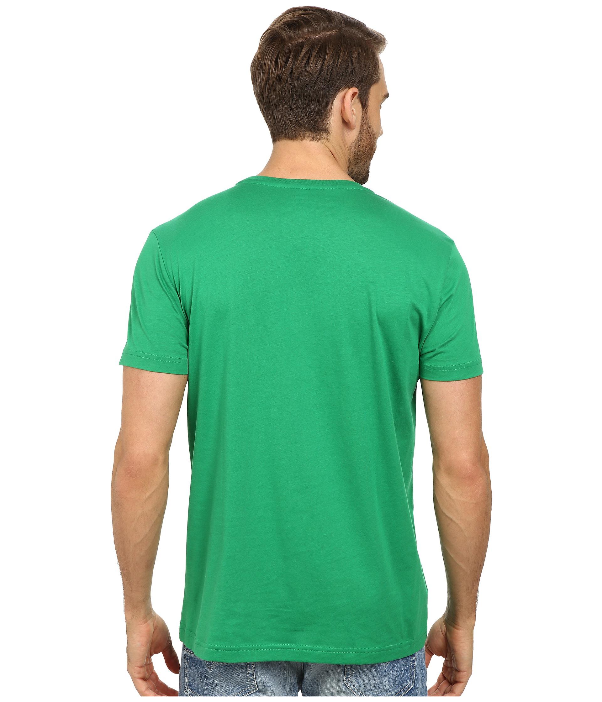 lyst lacoste short sleeve pima jersey crewneck t shirt. Black Bedroom Furniture Sets. Home Design Ideas