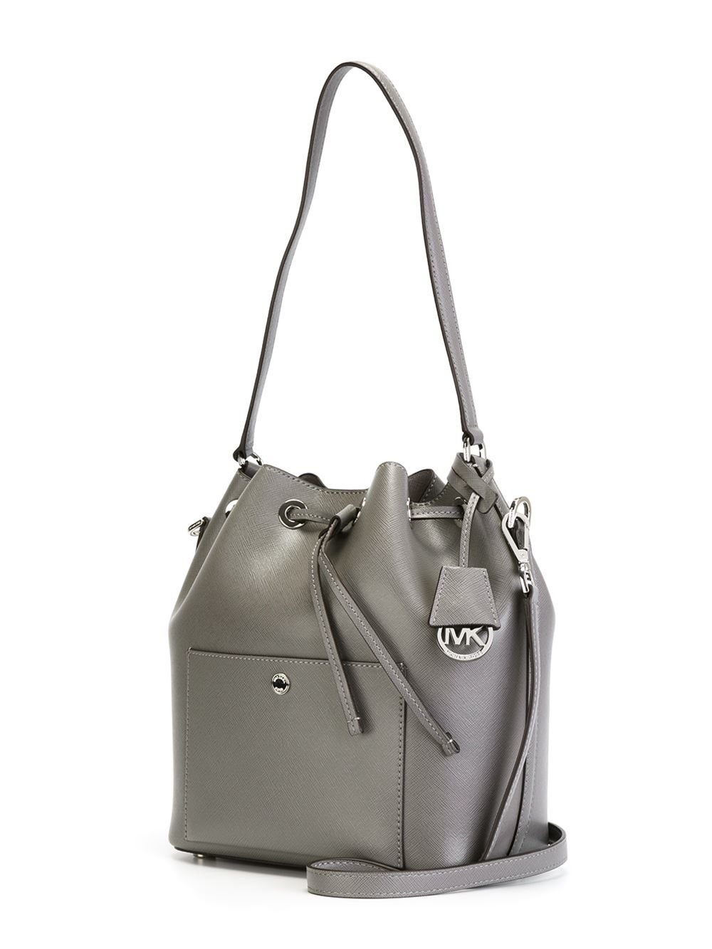 michael michael kors greenwich bucket bag in gray lyst. Black Bedroom Furniture Sets. Home Design Ideas
