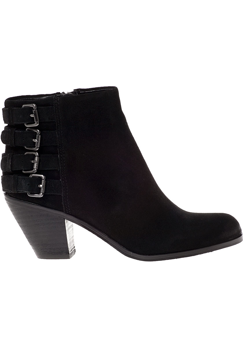 33731447ecc3d2 Lyst - Sam Edelman Lucca Ankle Boot Black Suede in Black