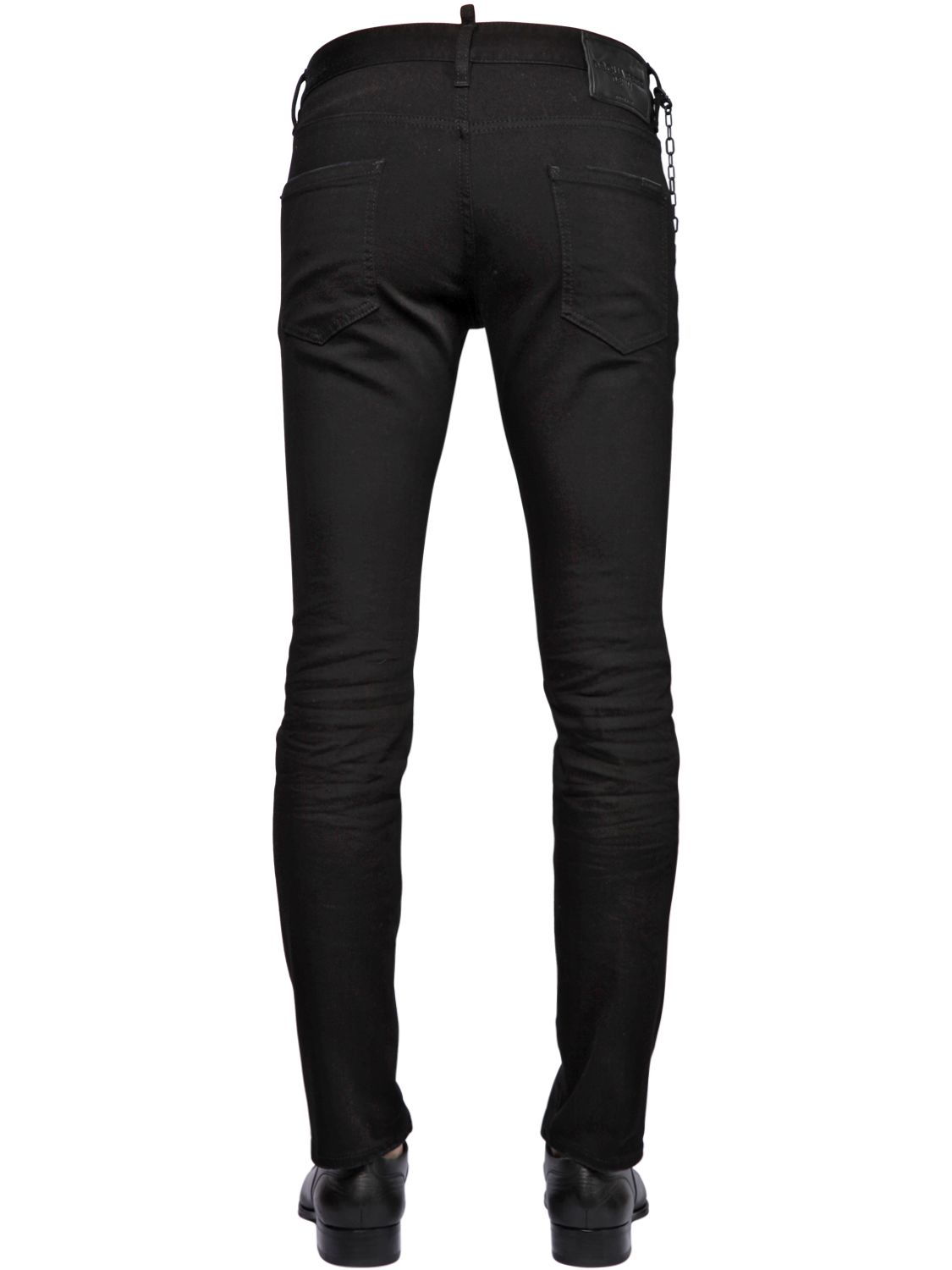 Lyst - Dsquared² 16.5cm Cool Guy Blk Stretch Denim Jeans ...