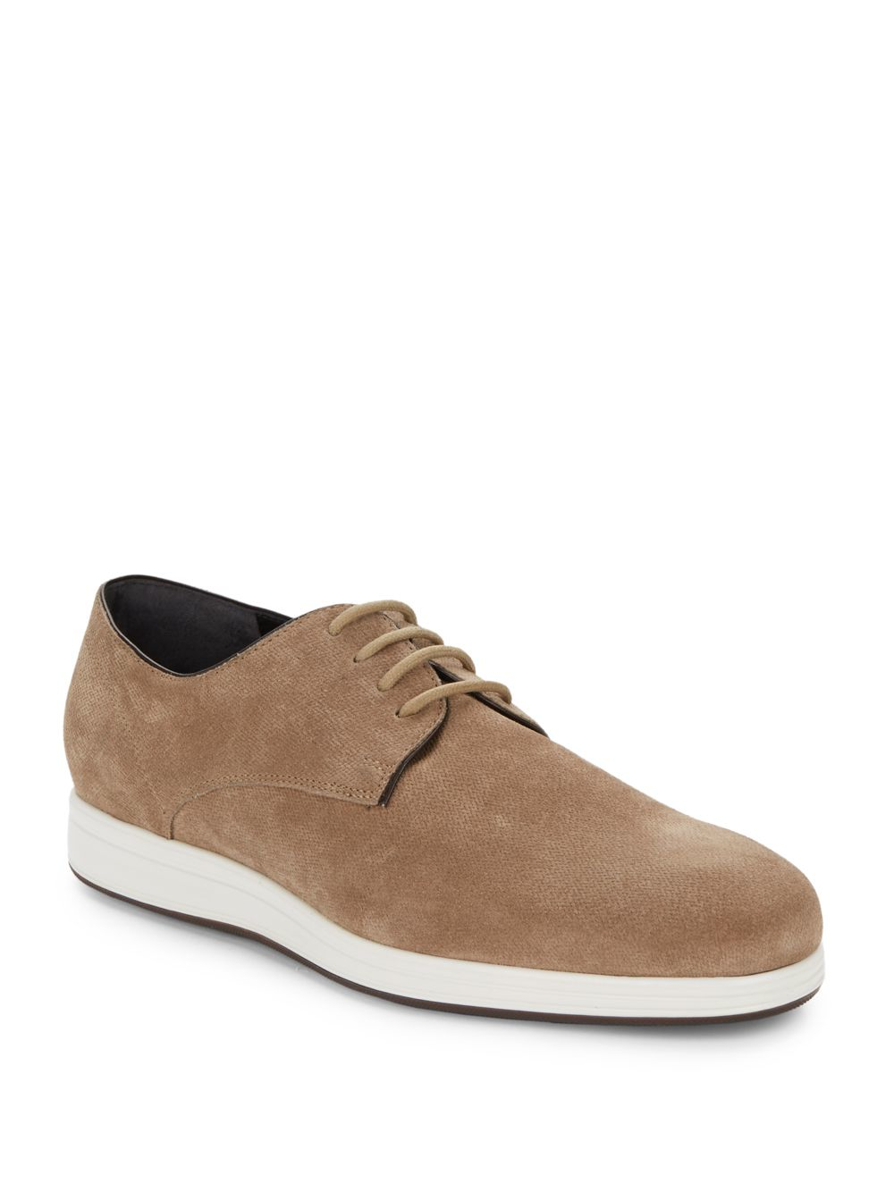 vince yuri embossed suede derby shoes in for