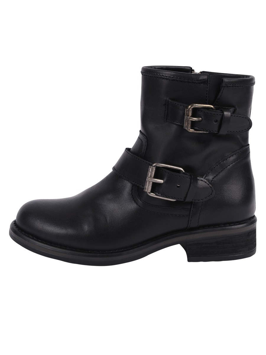 steve madden damiann buckled leather boots in black lyst
