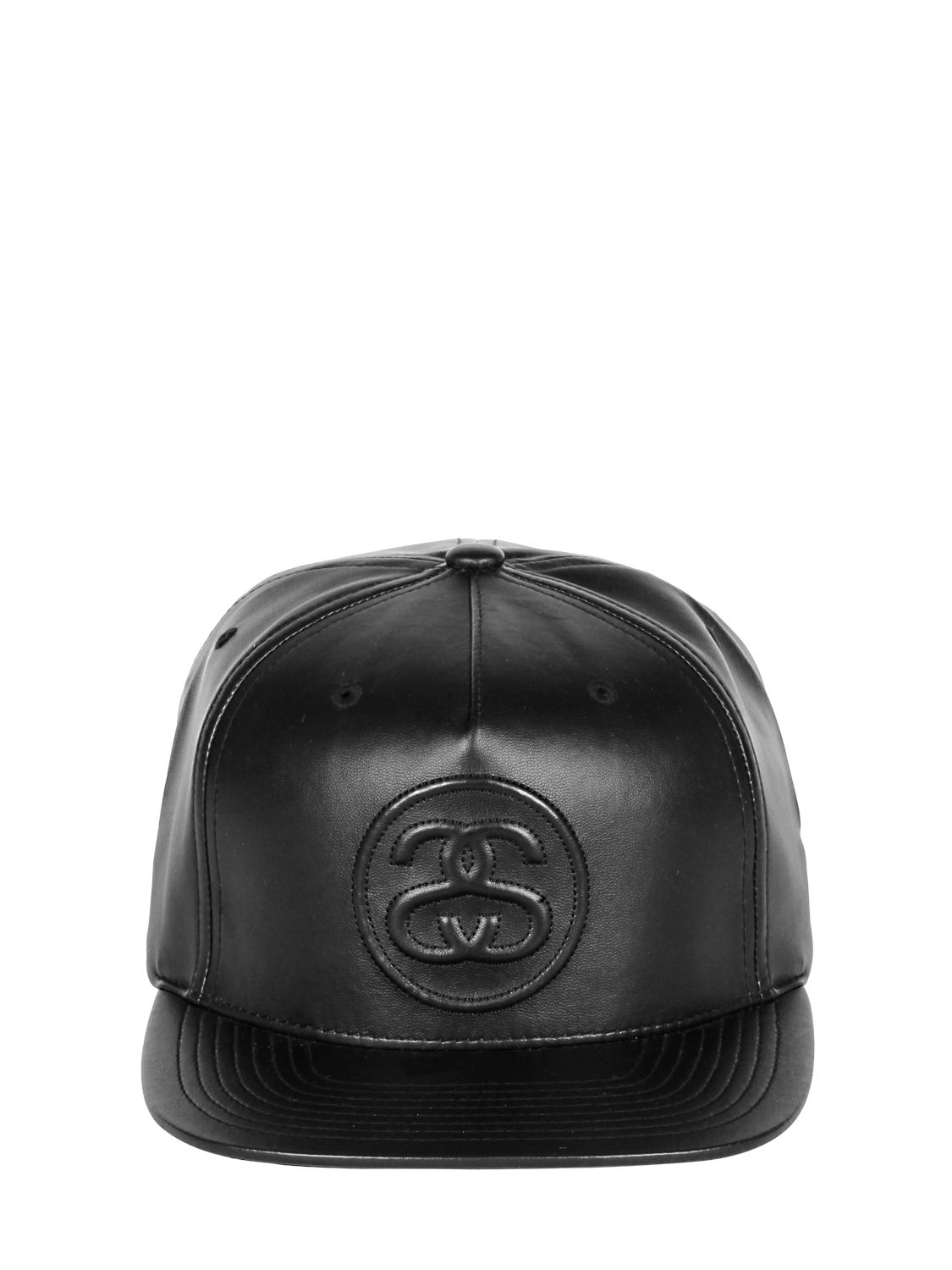 Stussy Faux Leather Baseball Hat in Black for Men - Lyst 98710c942ed