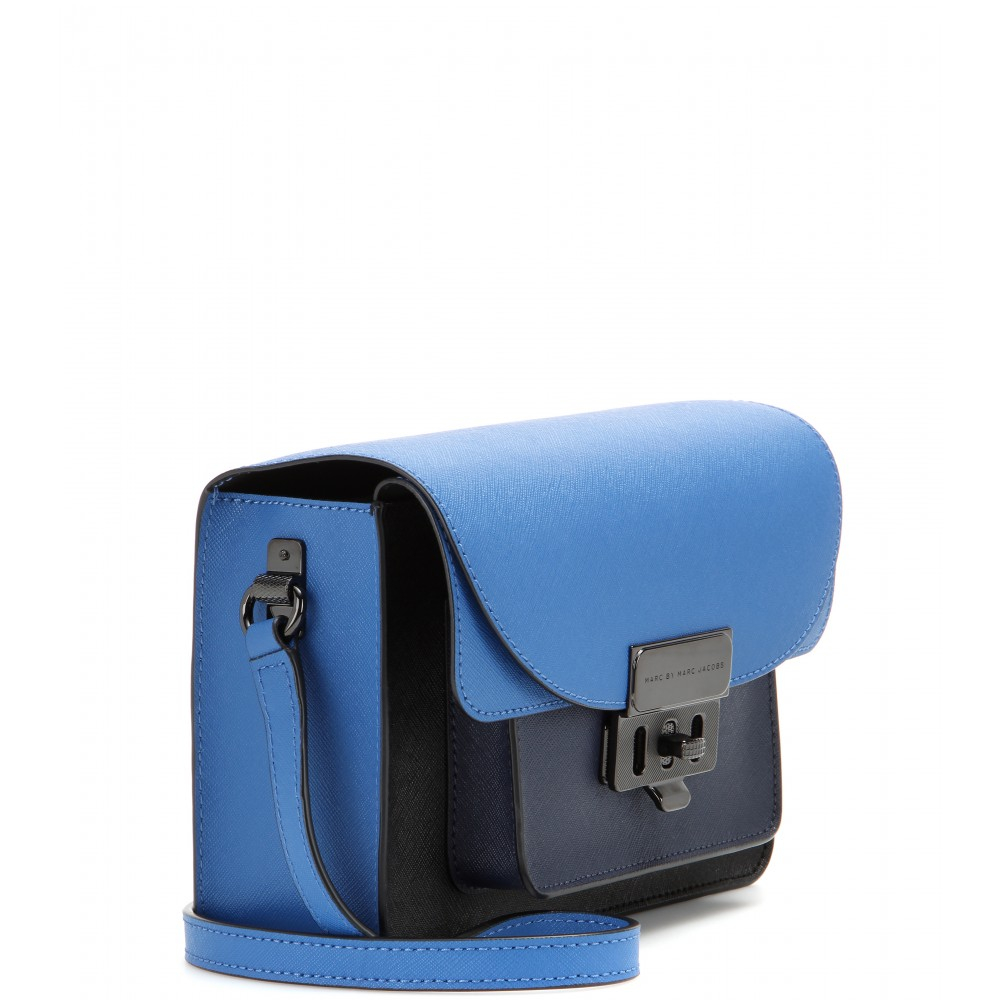 258d606bbca Marc By Marc Jacobs Lip Lock Xbody Leather Shoulder Bag in Blue - Lyst