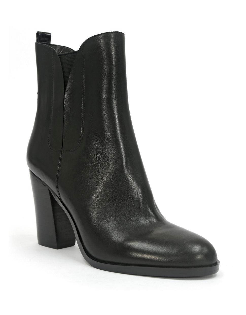 tahari foxy high heel leather boots in black lyst