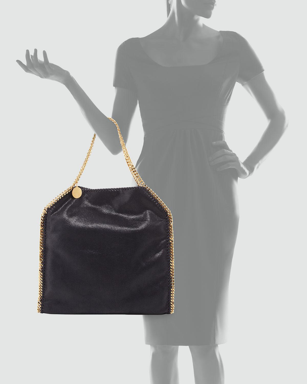 stella mccartney falabella large tote bag in blue navy lyst. Black Bedroom Furniture Sets. Home Design Ideas