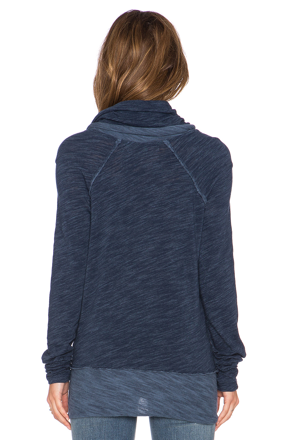 Free people Cocoon Cowl Neck Sweater in Blue | Lyst