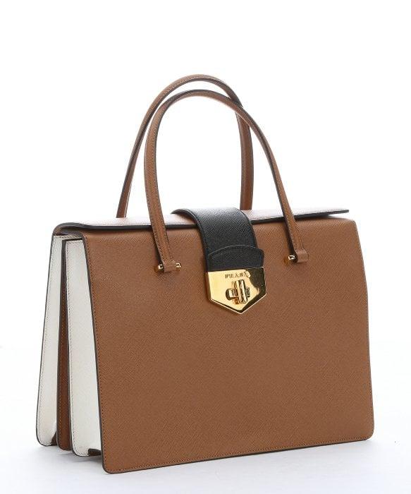 saffiano leather bag prada