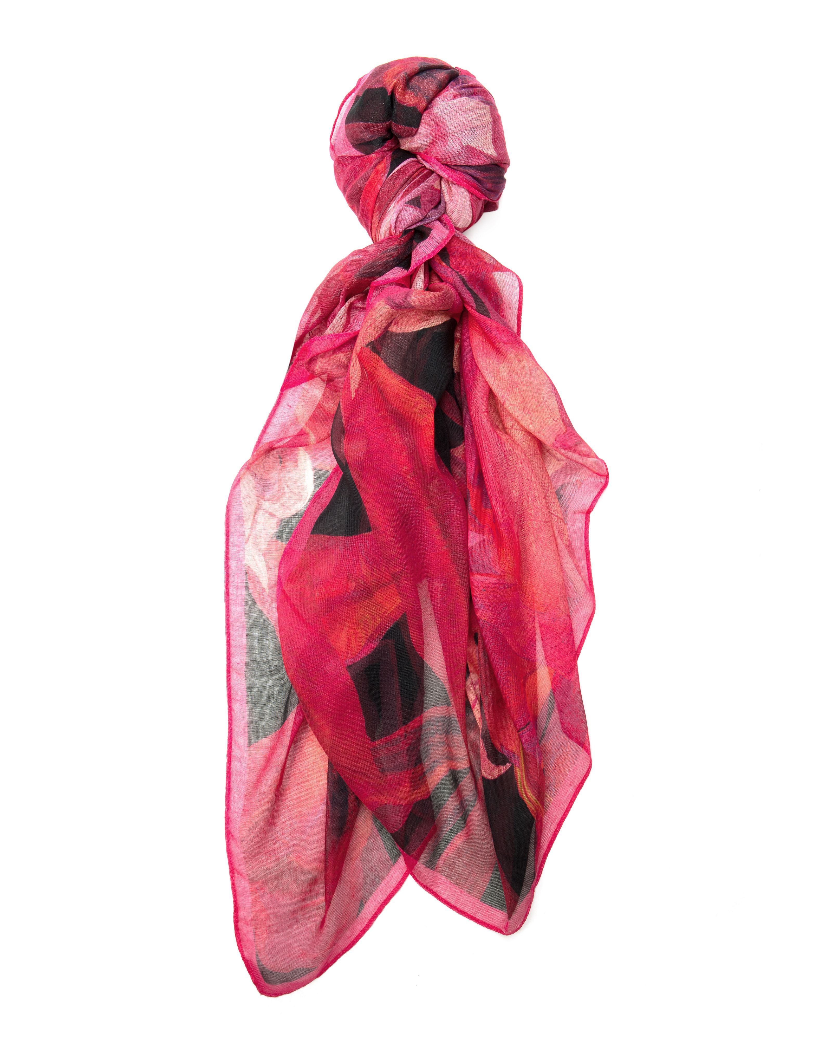ted baker esmie jungle orchid print scarf in lyst