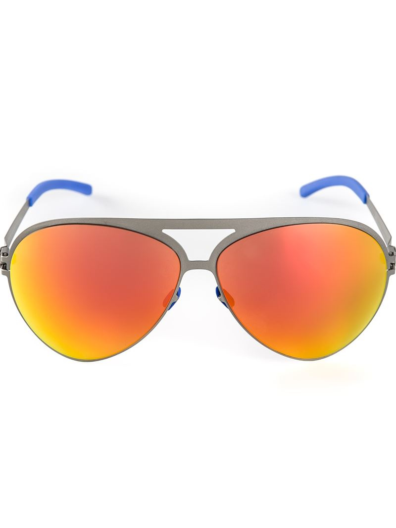 orange / red mirror: This may be the trickiest of all. Supposedly, what makes the orange mirror is a brown tint inside but looking inside a orange / red mirror lens from a Ray-Ban Aviator and different lenses, it's actually a green color.