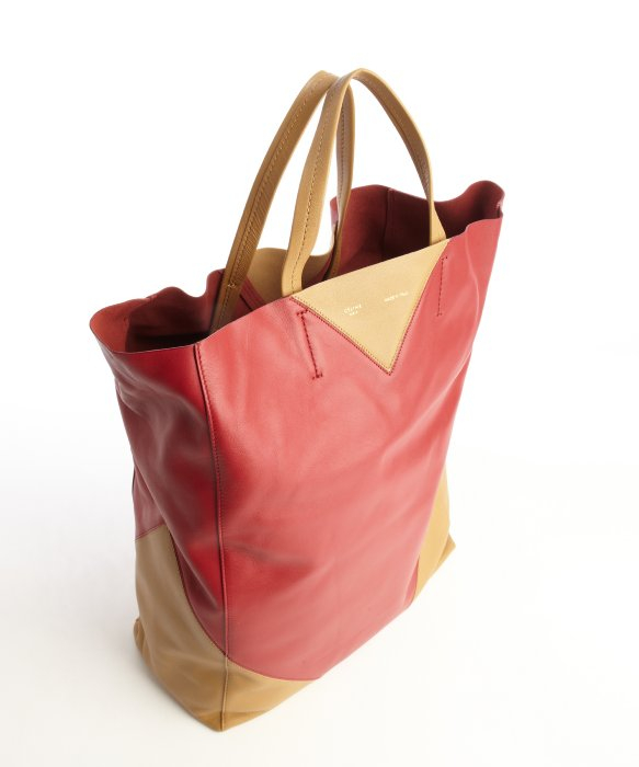 celine camel leather handbag