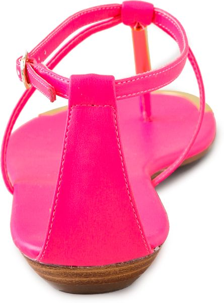 Dolce Vita Archer Flat Sandals In Pink Hot Pink Lyst