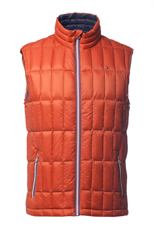 tommy hilfiger bay casual full zip gilet in orange for men lyst. Black Bedroom Furniture Sets. Home Design Ideas