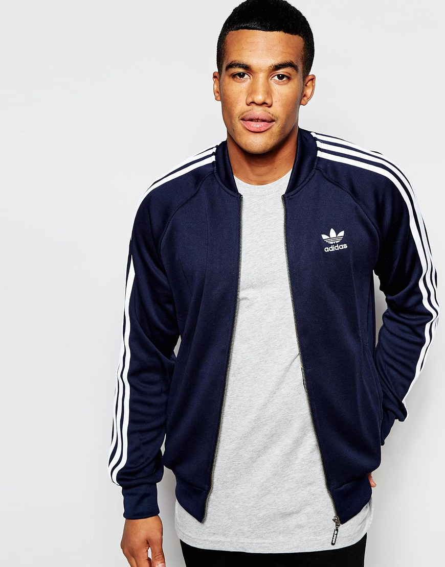 b1aef882 adidas Originals Superstar Track Jacket Aj7003 in Blue for Men - Lyst