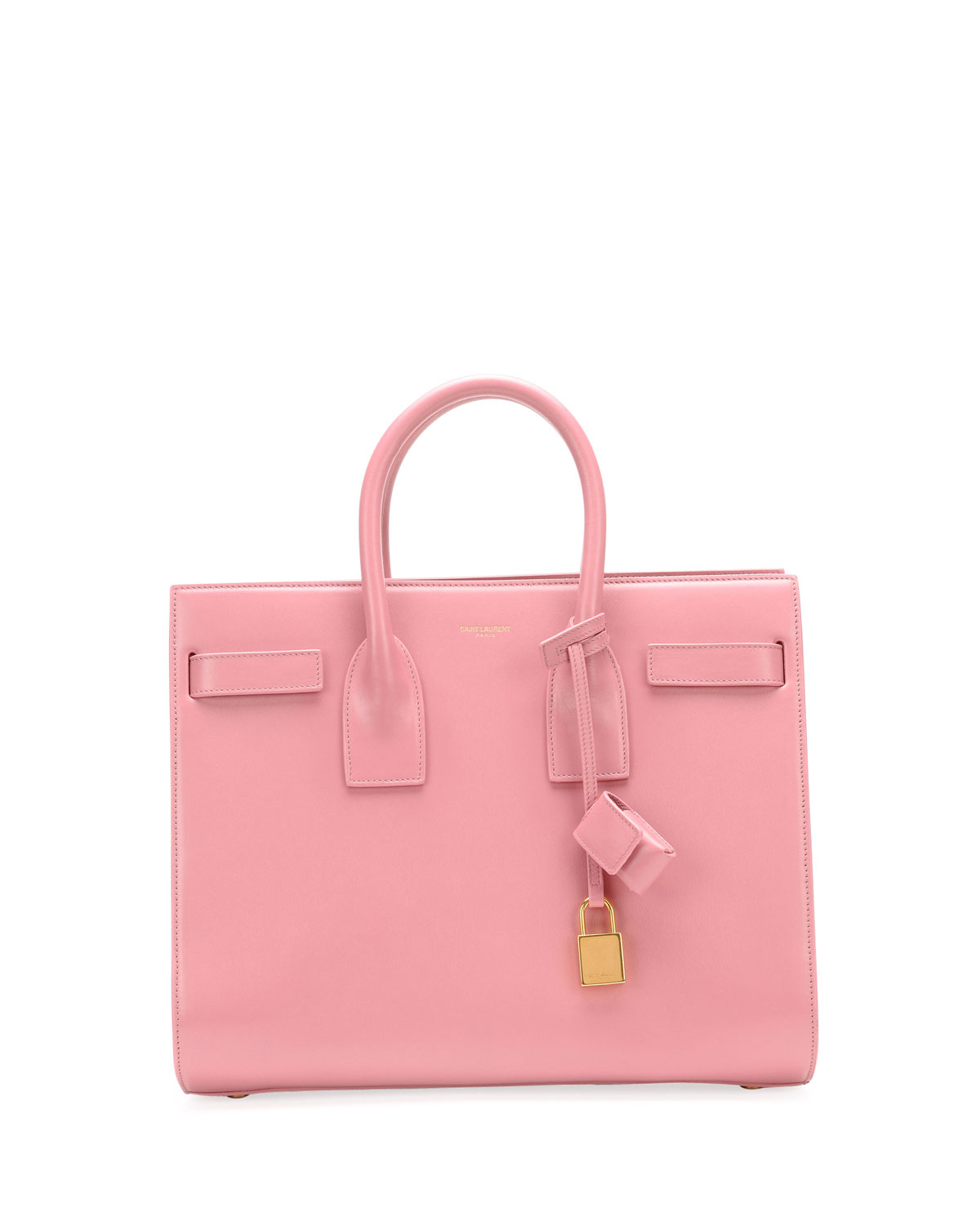 saint laurent sac de jour small carryall bag pink in pink lyst. Black Bedroom Furniture Sets. Home Design Ideas