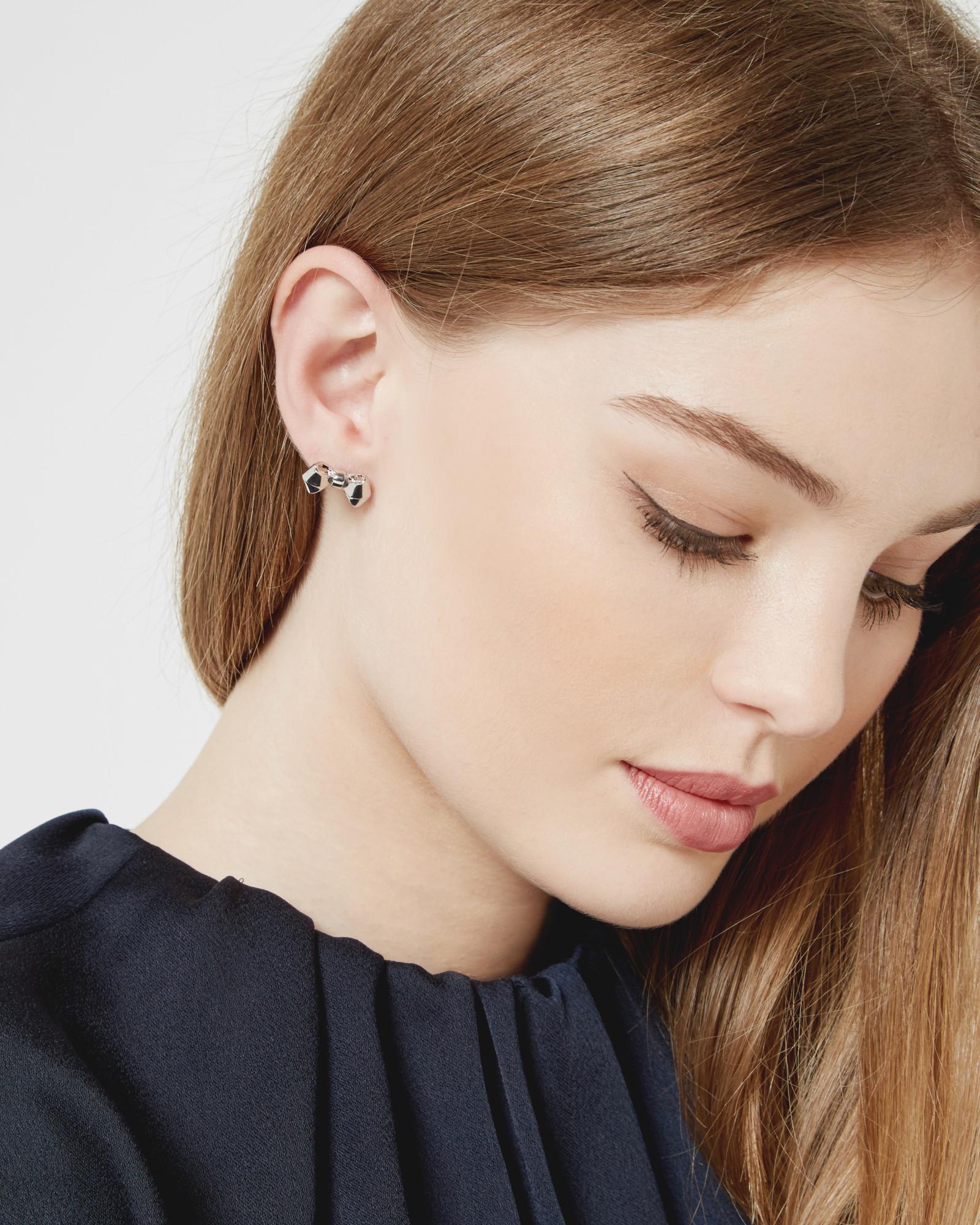 1c598c5d8 Ted Baker Bow Stud Earrings in Metallic - Lyst