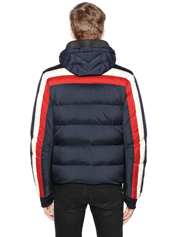 Lyst Moncler Grenoble Copper Nylon Down Ski Jacket In