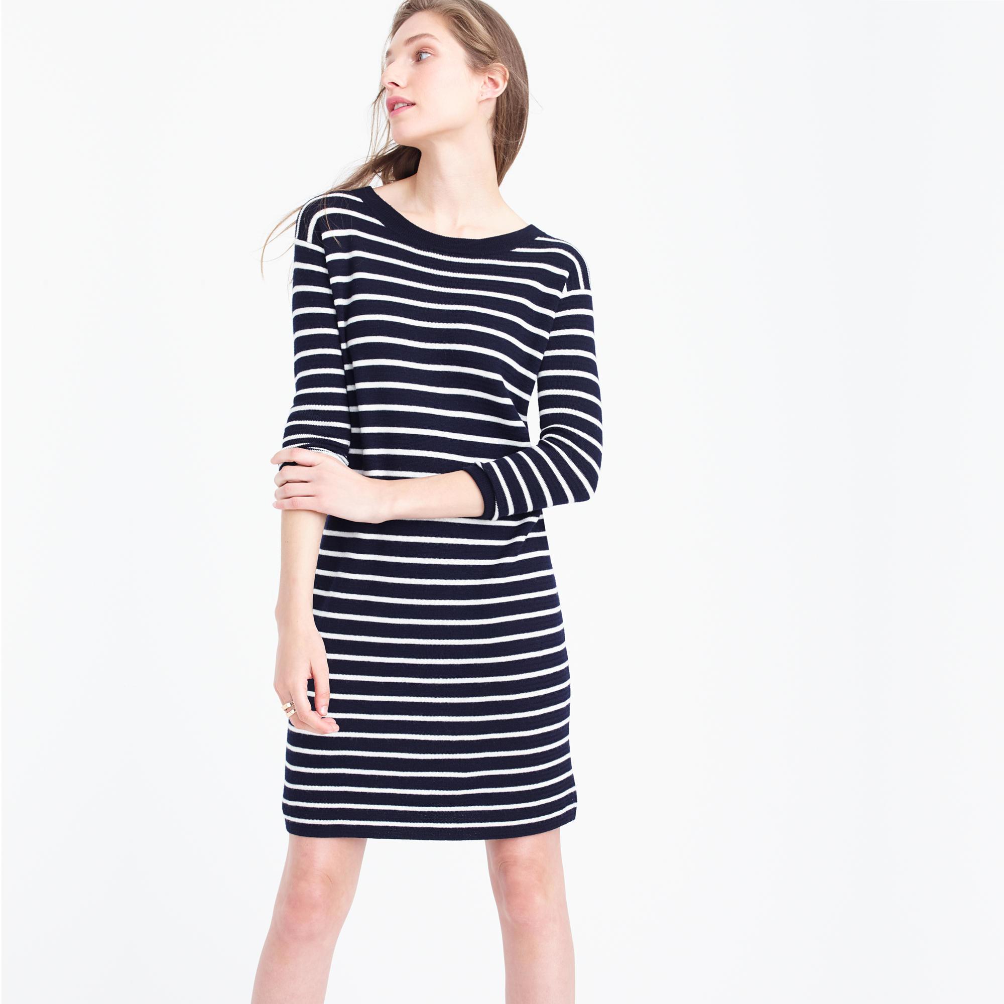 Blue merino dress