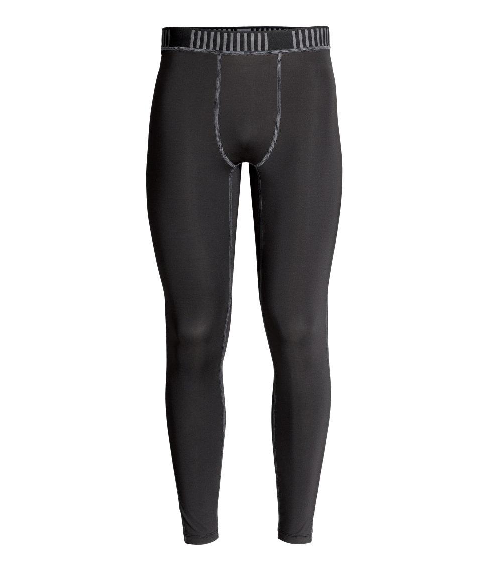 h m sports tights in black for men lyst. Black Bedroom Furniture Sets. Home Design Ideas