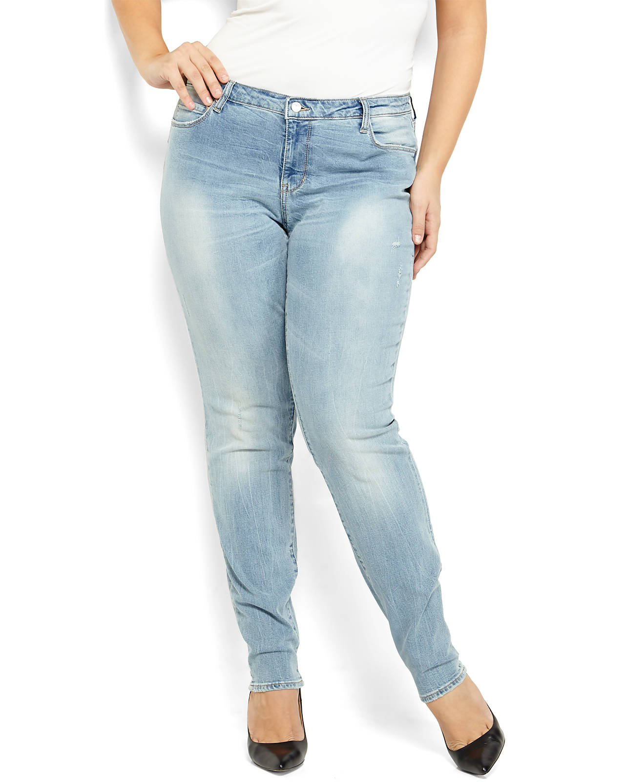 Dkny Plus Size Light Wash Mercer Skinny Jeans in Blue | Lyst