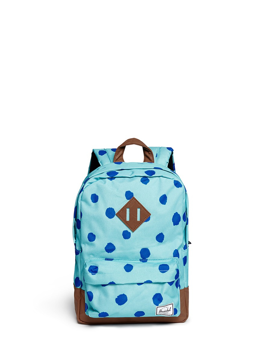 cb99c0e1b8cd Lyst - Herschel Supply Co.  Heritage  Polka Dot Print Kids Backpack ...