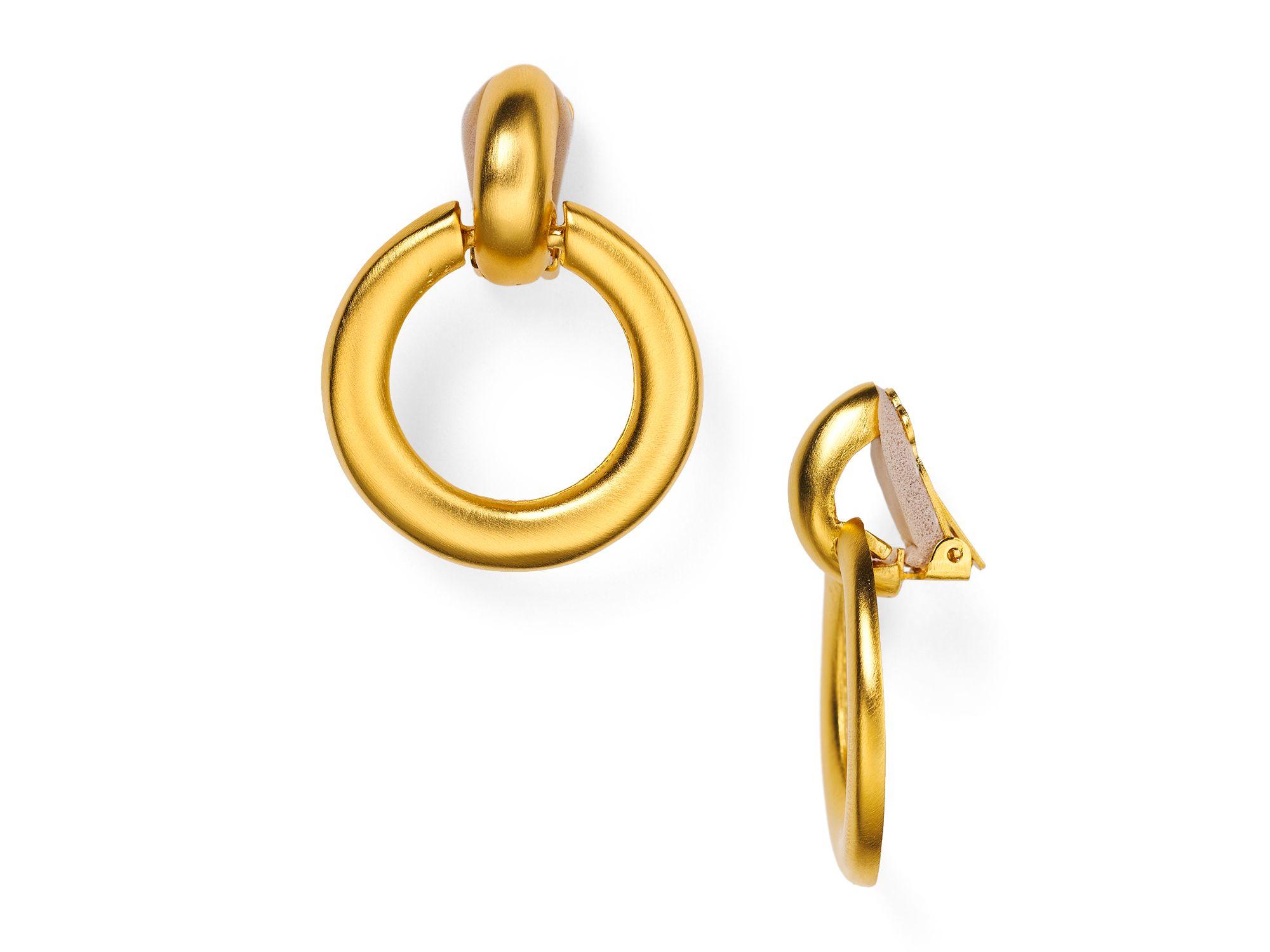 Kenneth Jay Lane Doorknocker Clip On Earrings wo6C0D