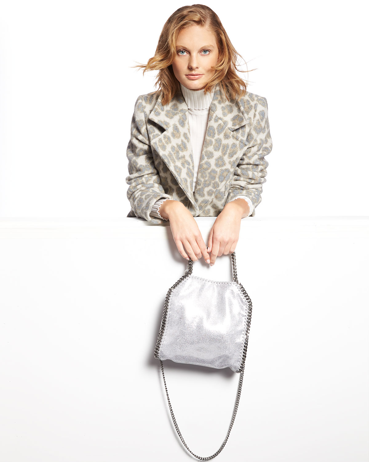 Stella: Stella Mccartney 'falabella' Quilted Tote In Metallic