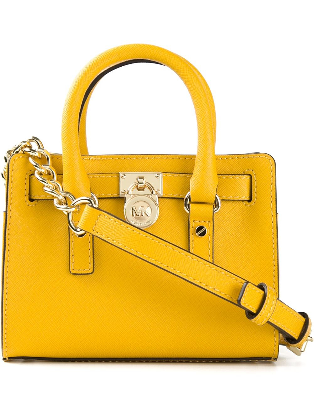 8d38310d4286a Lyst - MICHAEL Michael Kors Small  Hamilton  Tote Bag in Yellow