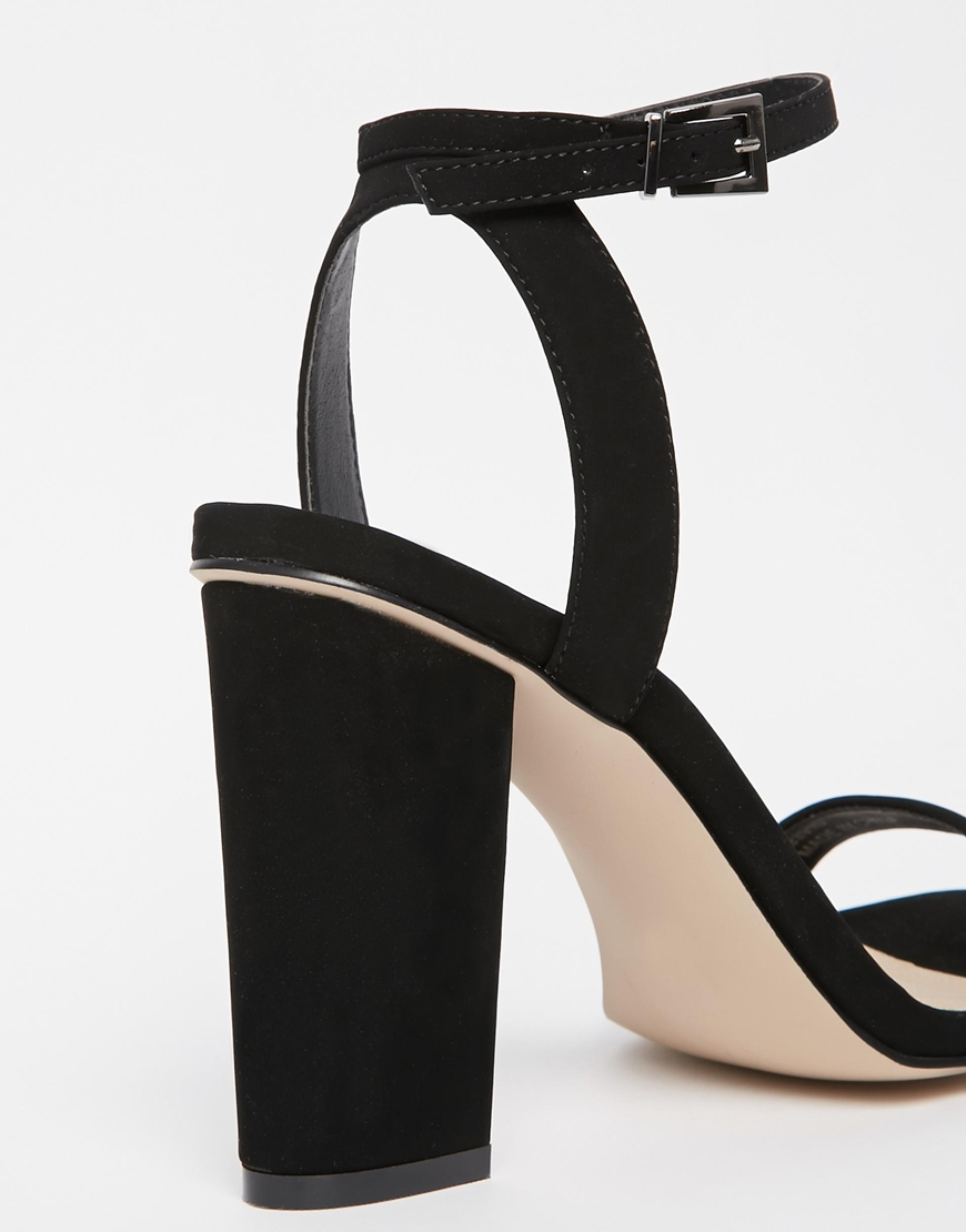 5dd17b6796e Lyst - ASOS Hermione Heeled Sandals in Black