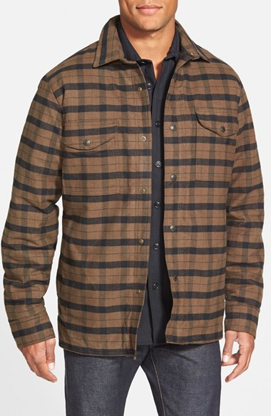 Filson 'alaskan Guide' Lined Plaid Flannel Shirt Jacket in Green ...
