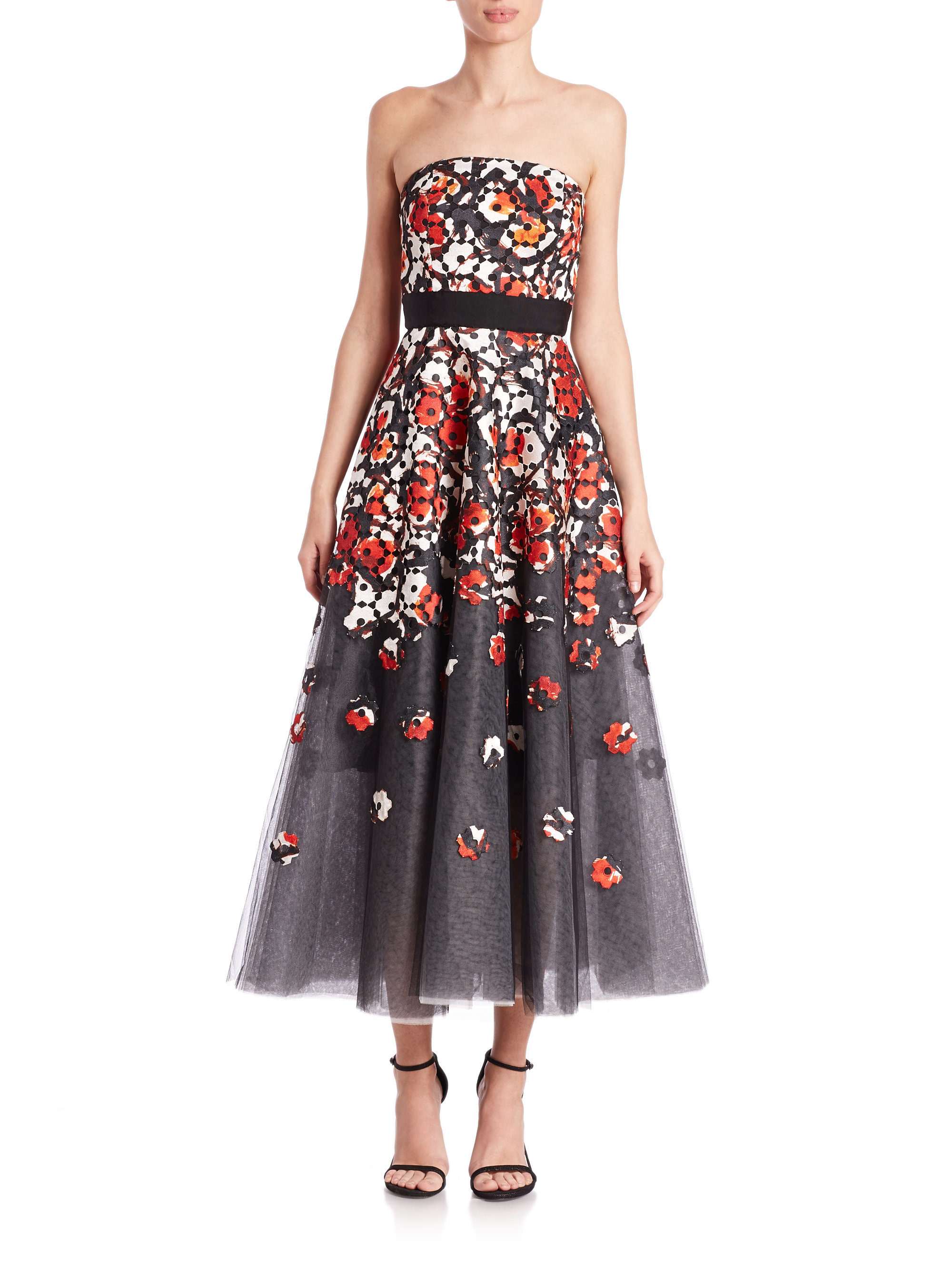 Lyst Sachin Babi Norman Floral Poppy Gown In Red