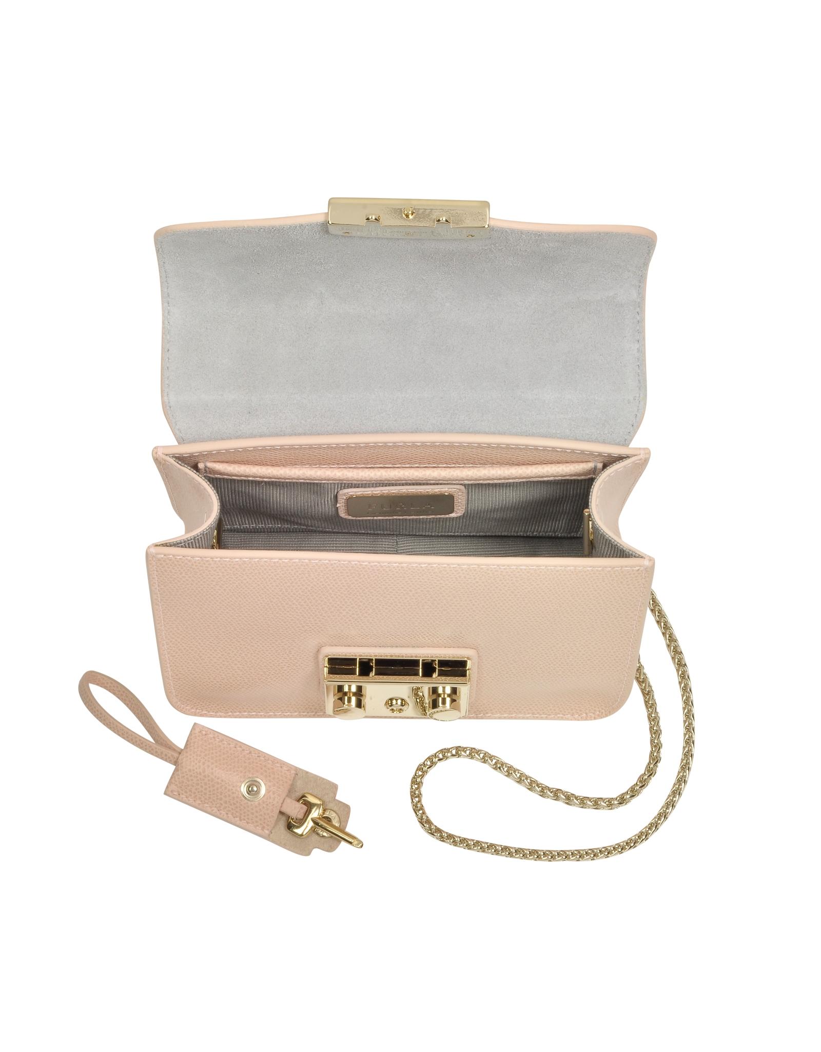a6f65fc279556 Lyst - Furla Metropolis Magnolia Leather Mini Crossbody Bag in Pink