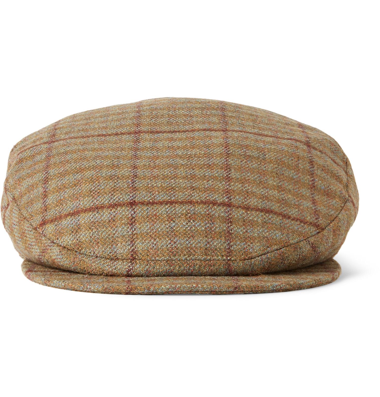 dbf422922fc32 Musto Shooting Checked Wool-blend Tweed Flat Cap in Brown for Men - Lyst