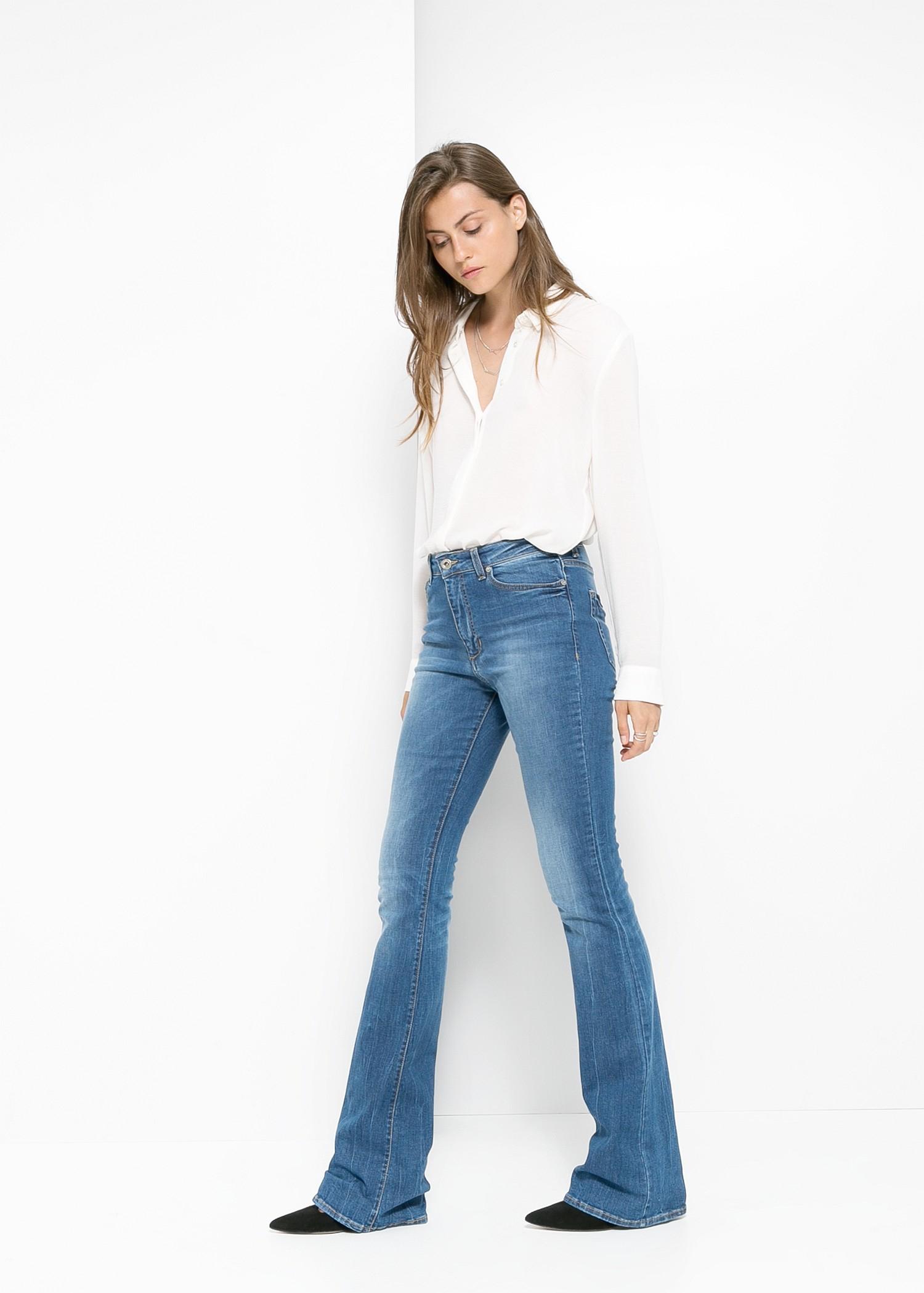 378f1cb5b7 Lyst - Mango Flared Flare Jeans in Blue