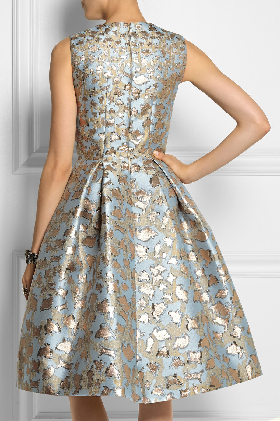 62e7d58520c Mary Katrantzou Jq Astere Metallic Jacquard Dress in Blue - Lyst