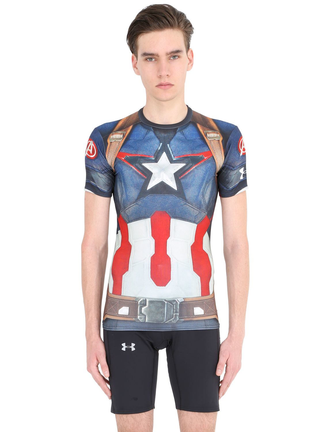 CAPTAIN AMERICA MARVEL AVENGERS COMPRESSION SHIRT LIKE UNDER ARMOUR ALTER EGO