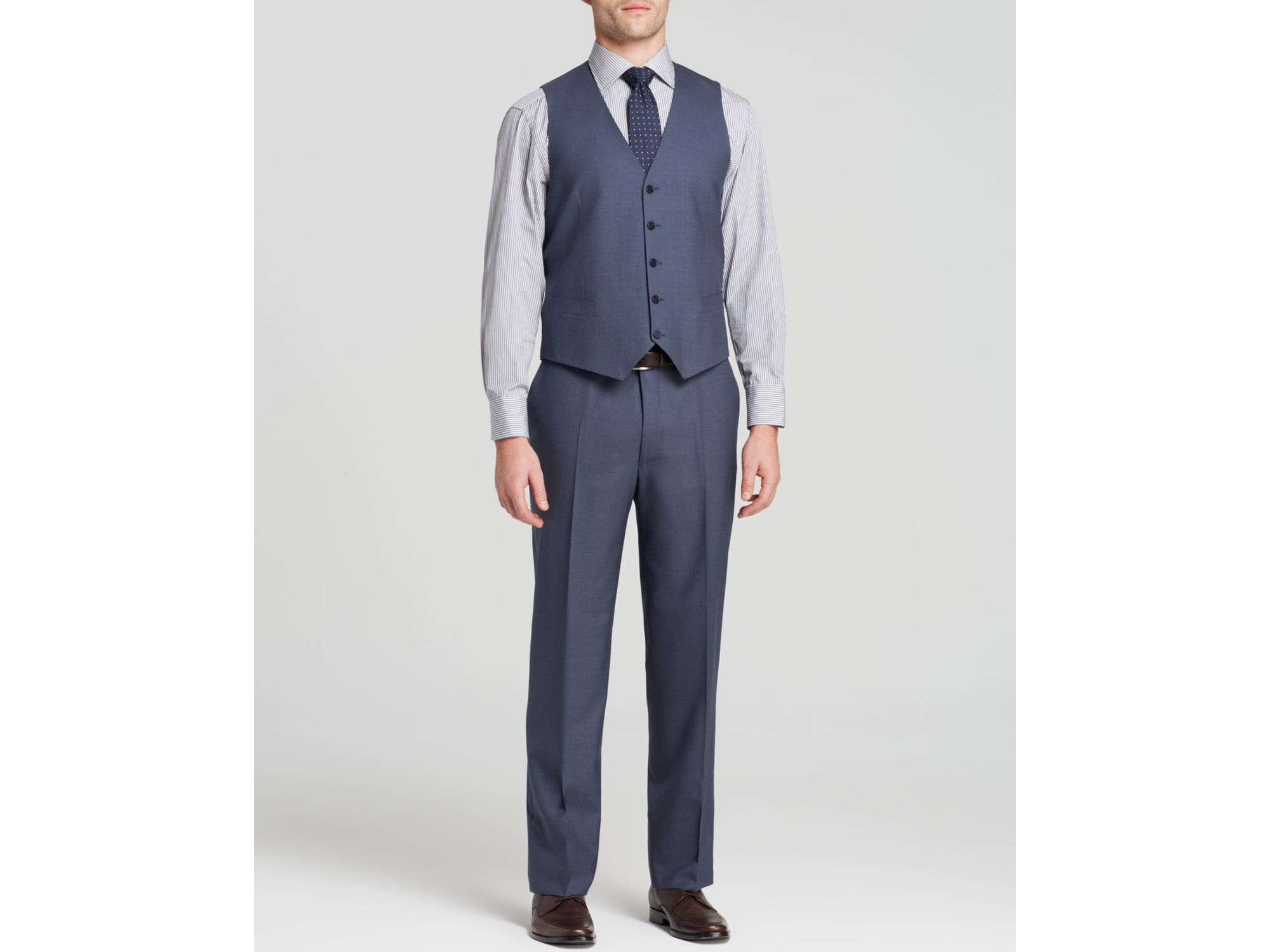 Canali Solid Super 120s Three-piece Suit - Classic Fit ...