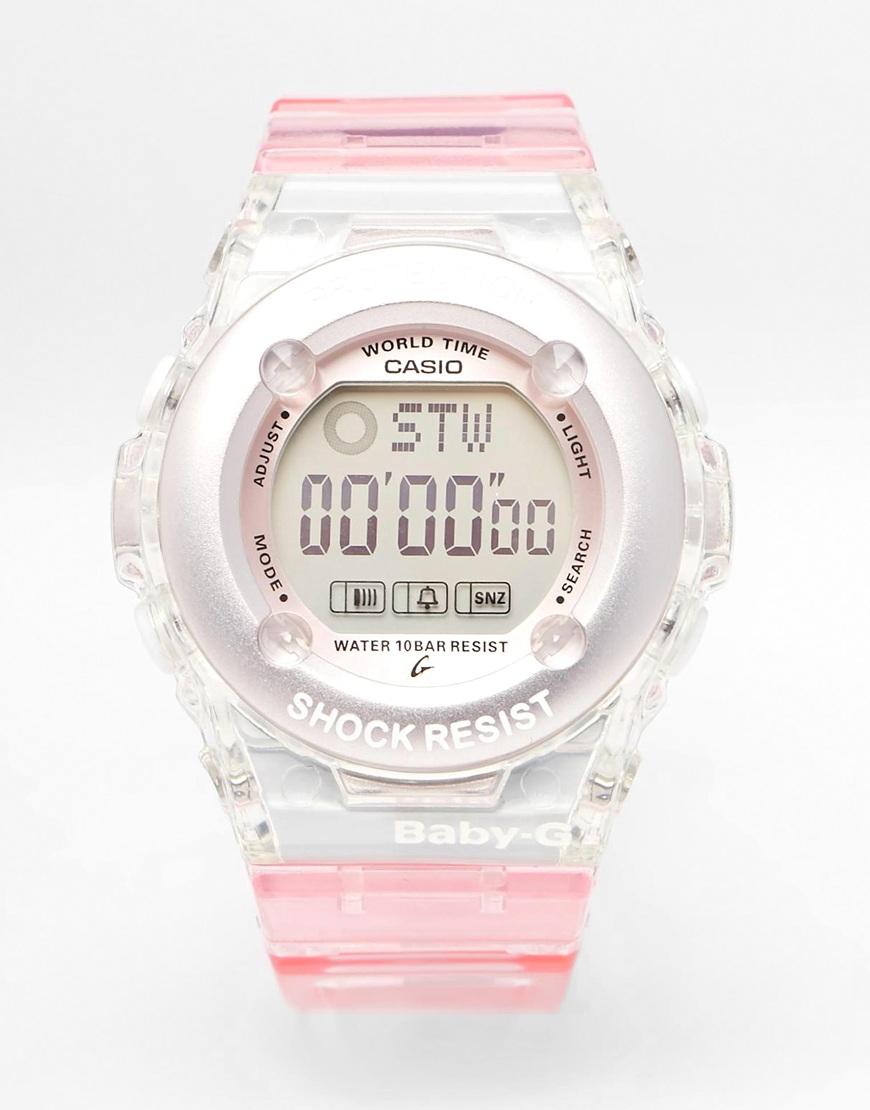 g shock baby g pink digital in pink lyst