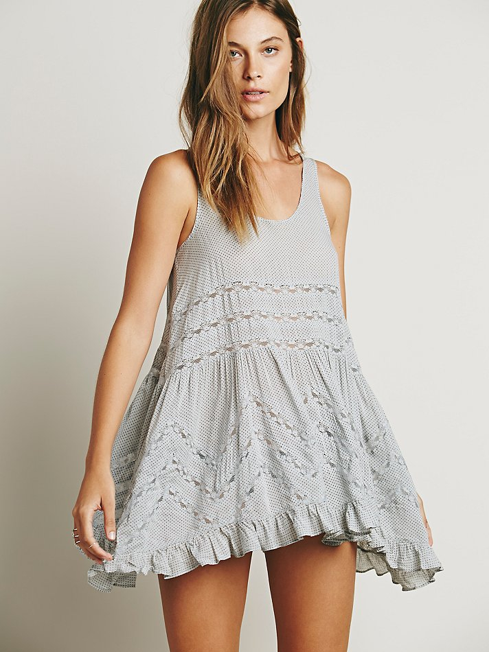 Free people voile lace dress