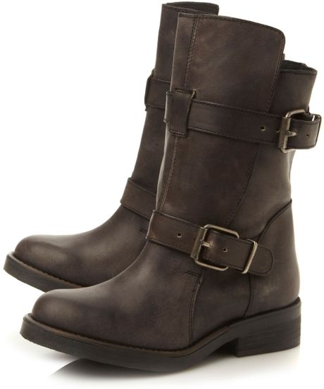 steve madden caveat detail boots in black black