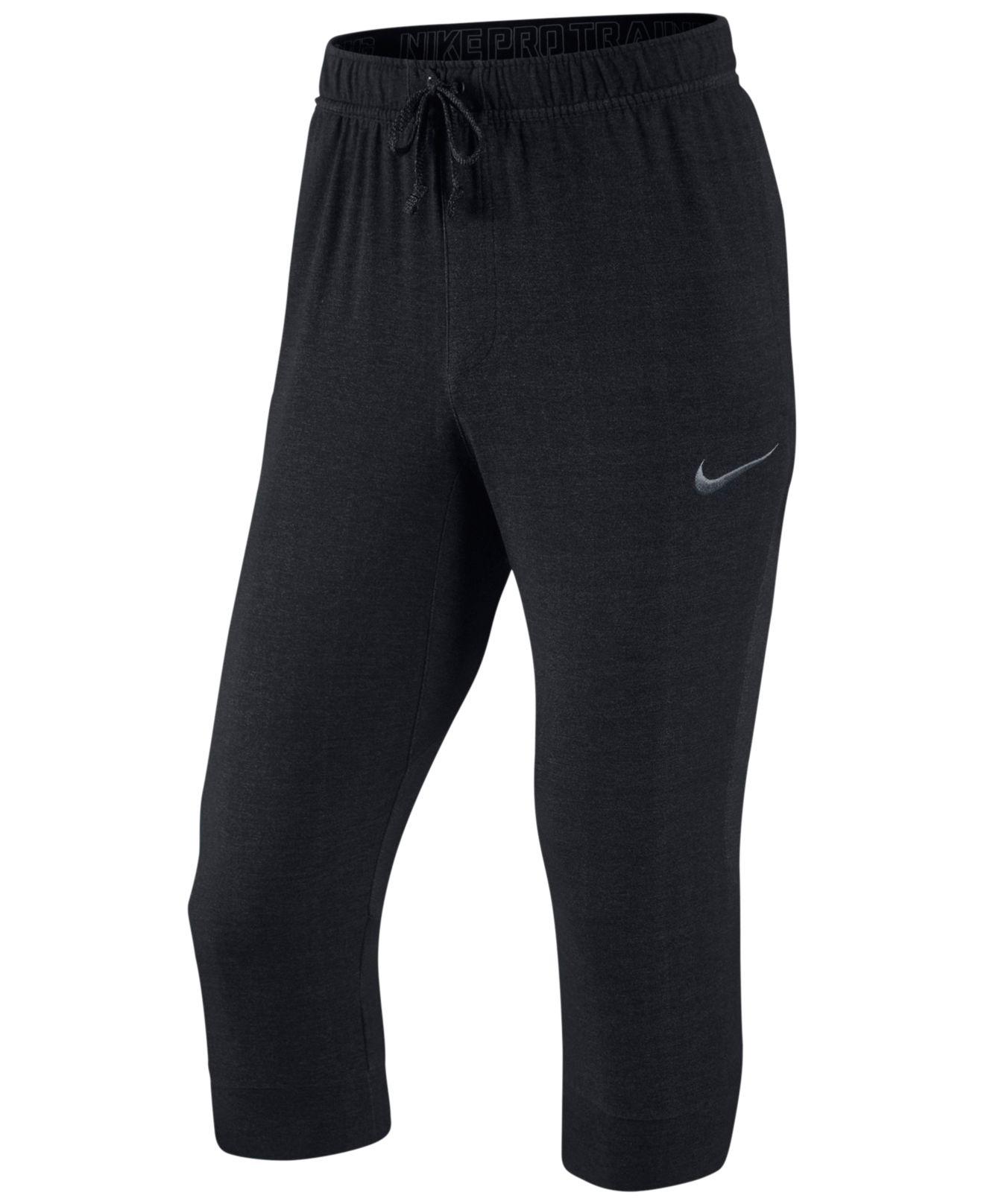 3d8c70372721 Lyst - Nike Men s Touch Dri-fit Fleece 3 4 Length Pants in Black for Men
