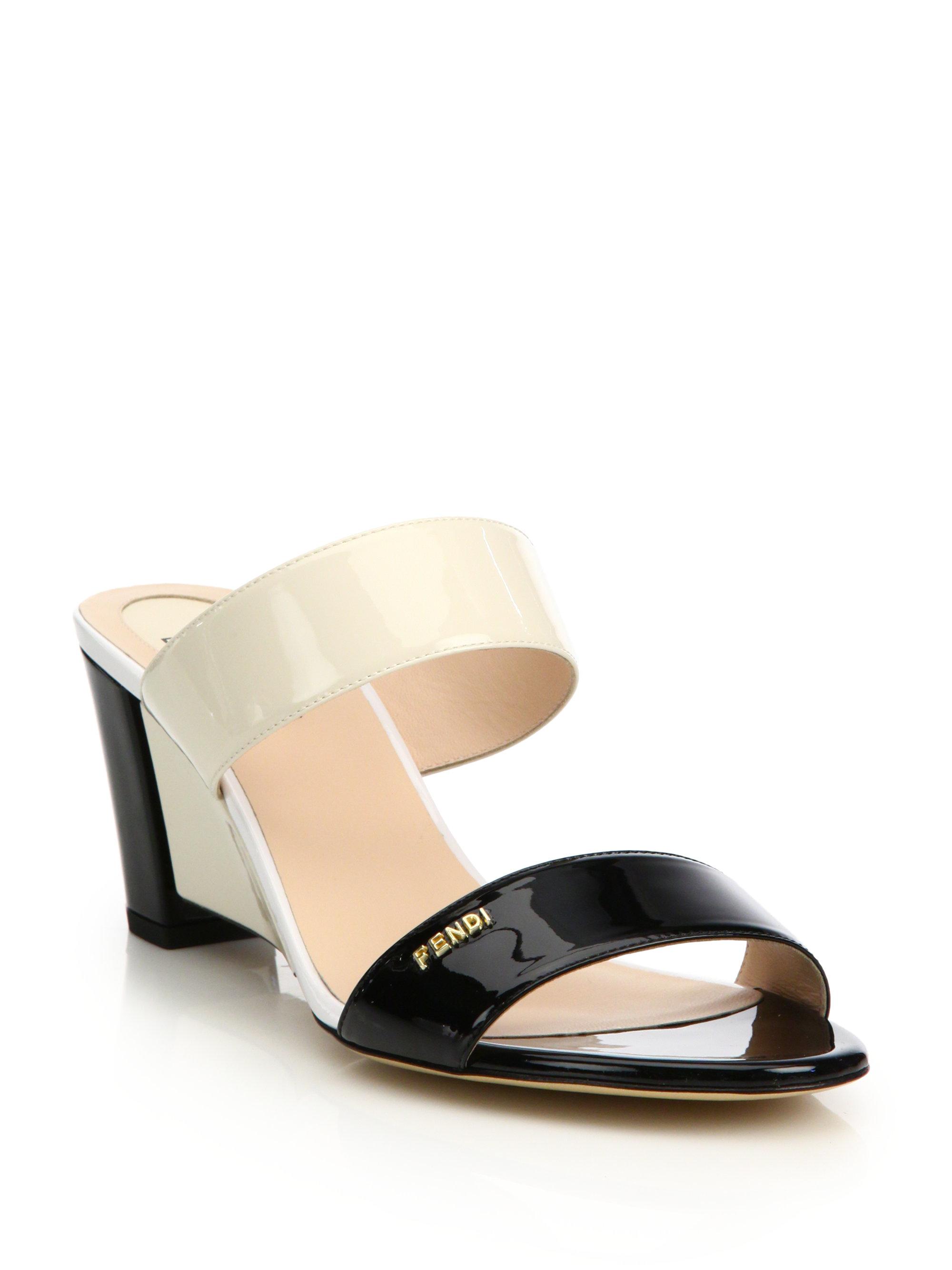 Fendi Patent Leather Sandals Cgzz3TvwA9