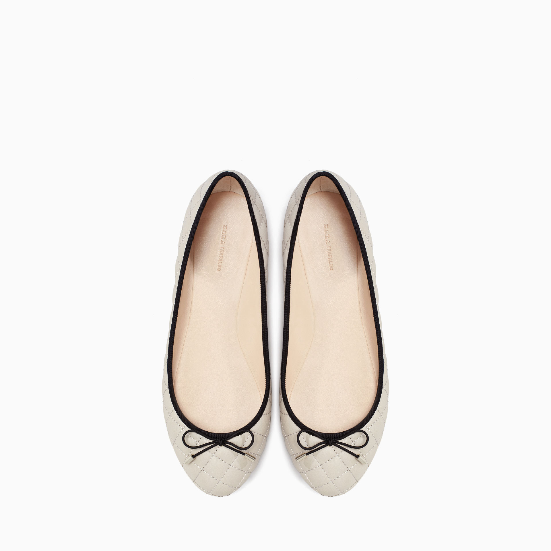Brilliant Zara Flat Shoes With Openings In Black  Lyst