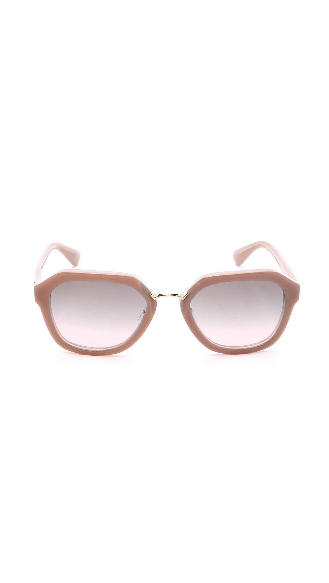 ad80ba10b97b1 ... discount prada metal bridge sunglasses opal powder pink pink grey in  natural lyst 14df1 23a3e