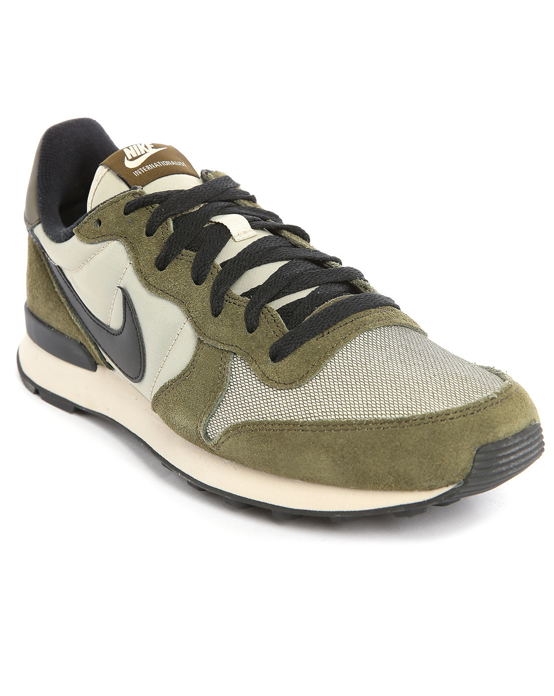 nike internationalist khaki sneakers in green for men lyst. Black Bedroom Furniture Sets. Home Design Ideas